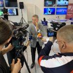 SELEKTOR LJUBIŠA TUMBAKOVIĆ SA PREDSTAVNICIMA MEDIJA U SKLOPU 5.MEDIA MARKETA - SAJMA INFORMISANJA, KOMUNIKACIJA I MARKETINGA